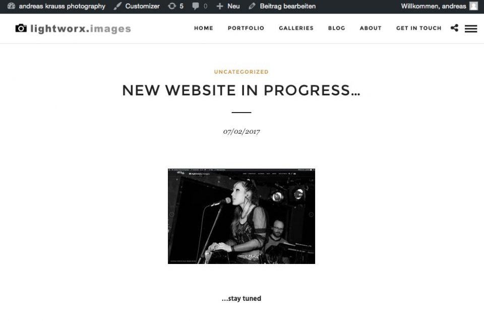new website in progress…